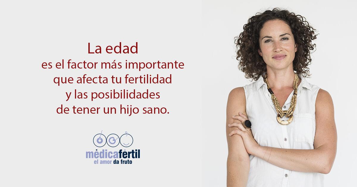 La edad es el factor más importante que afecta tu fertilidad